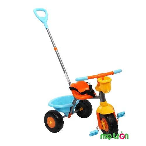 Xe đạp ba bánh Cupcake màu cam Smartrike là sản phẩm chất lượng mang thương hiệu đến từ Mỹ với thiết kế đơn giản và gọn nhẹ, kết hợp tay cầm phía sau có thể tháo rời có thể cho bé chơi một mình.