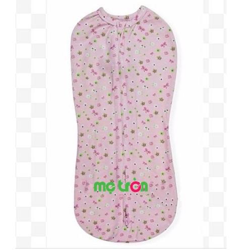 Túi quấn bé Swaddlepod Summer hình hoa màu xanh và hồng
