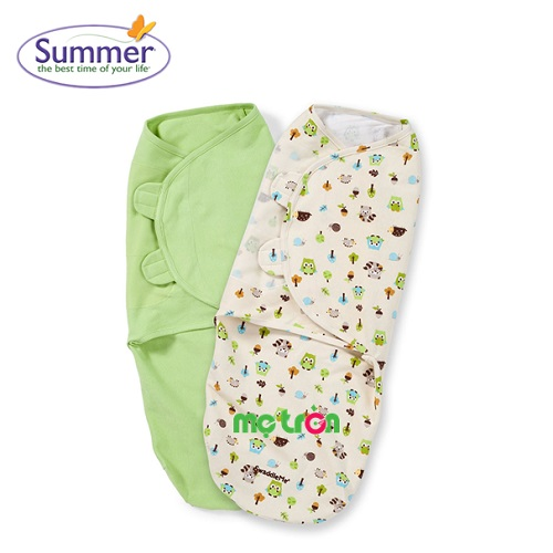 <p>Bộ chăn quấn đôi Summer Infant nhiều màu siêu dễ thương được làm từ chất liệu cao cấp, mềm mại và rất thoáng mát. Đây là loại chăn quấn bé đơn giản nhất, giúp bé thoải mái, ấm áp với đôi cánh mềm, ôm sát toàn thân. Chăn quấn đủ chặt giúp bé có cảm giác như đang được nằm trong long mẹ ấm áp cho bé một giấc ngủ sâu và đủ giấc.</p>