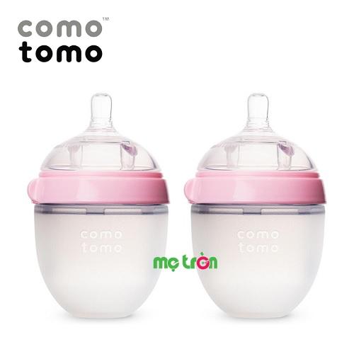 <p>Bộ hai bình sữa Comotomo silicone 150ml cho bé (màu hồng – CT00002) là sản phẩm bình sữa từ thương hiệu Cotomoto tại Mỹ, được làm từ silicone cao cấp dùng trong y khoa và nhựa hoàn toàn không chứa BPA độc hại, an toàn cho bé khi bú bình. Thân bình được làm từ chất liệu mềm mịn như da mẹ mang đến cảm giác thoải mái, gần gũi như khi được bú mẹ.</p>