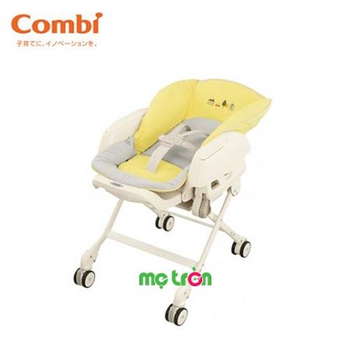 Ghế nôi đa năng rung tự động Nemulila Combi màu vàng ghi