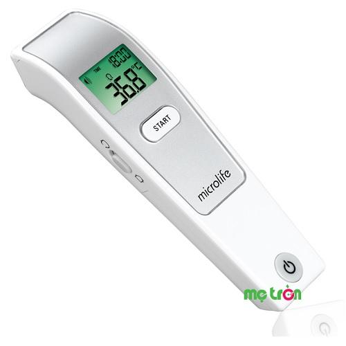 <p>Nhiệt kế hồng ngoại đo trán chính xác Microlife FR1MF1 là sản phẩm cao cấp thuộc thương hiệu Microlife đến từ Thụy Sỹ, thiết kế nhỏ gọn kết hợp với công nghệ tích hợp cảm biến đo tiên tiến không tiếp xúc nhưng vẫn cho kết quả chính xác tuyệt đối. Ngoài chức năng dùng để đo thân nhiệt con người, nhiệt kế Microlife FR1MF1 còn cực kỳ tiện lợi khi có thể đo các vật thể khác.</p>