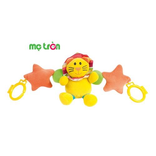 Đồ chơi treo cũi mềm hình sư tử và ngôi sao 68/011 được làm từ chất liệu nhựa cao cấp, sơn chuyên dụng an toàn, không chứa các thành phần gây hại, với màu sắc bắt mắt kích thích thị giác của bé.