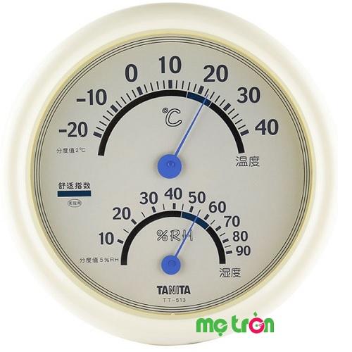 Nhiệt ẩm kế vỏ nhựa tiện dụng Tanita TT513 là sản phẩm đo nhiệt độ mang thương hiệu Nhật Bản giúp bạn xác định được nhiệt độ, độ ẩm không gian ở để phòng tránh một số bệnh cho người thân như cảm lạnh, viêm xoang, viêm mũi, huyết áp cao và các bệnh về đường hô hấp…