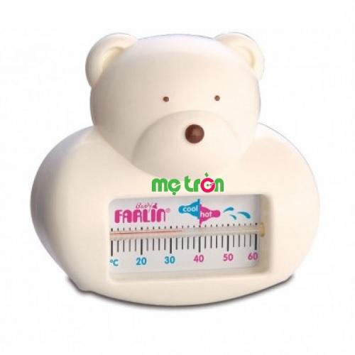 Nhiệt kế đo nước tắm đảm bảo an toàn cho bé Farlin BF179A giúp bạn đo được nhiệt độ nước tắm thích hợp để tắm cho bé dễ dàng hơn. Sản phẩm sử dụng an toàn, tiện lợi, màn hình hiển thị rõ ràng, dễ đọc vạch nhiệt độ. Hơn nữa. thiết kế kiểu dáng hình dáng gấu xinh xắn và dễ cầm giúp bạn đo một cách dễ dàng và bé cũng rất thích thú.