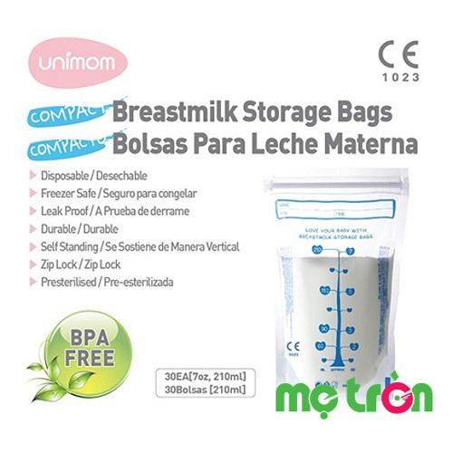 Túi trữ sữa Unimom Compact UM870251 210ml 30 túi của Hàn Quốc