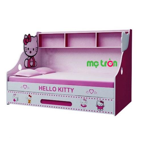 <p>Giường tầng lùn GL02 Hello Kitty đáng yêu cho bé (trên 1m2 – dưới 1m) là sản phẩm chất lượng cao cấp xuất xứ Việt Nam. Sản phẩm được làm từ chất liệu MDF sơn nhập khẩu từ Malaysia kết hợp với công nghệ in sơn trực tiếp lên bề mặt sản phẩm rất an toàn. Với họa tiết Hello Kitty màu hồng đáng yêu chắc chắn bé sẽ tạo cho bé cảm giác thích thú.</p>