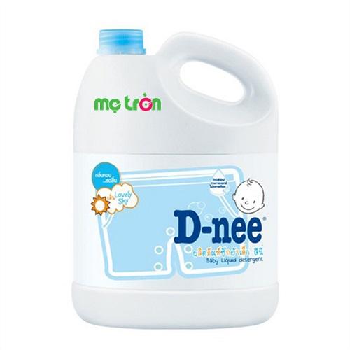Dung dịch giặt xả Dnee 3000ml màu xanh hương thơm tươi mát