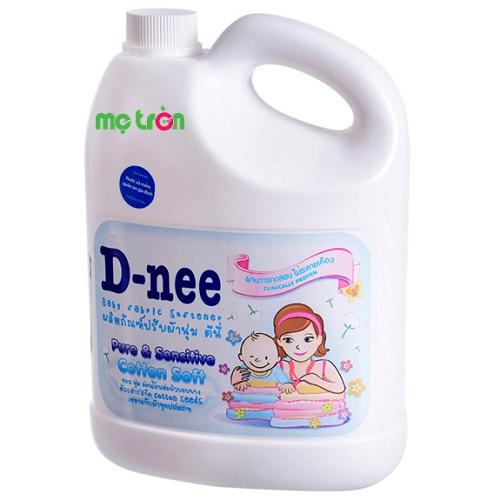 Nước xả mềm vải Dnee 3000ml màu trắng dành cho cả gia đình