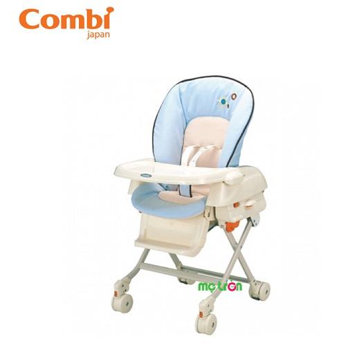 Ghế nôi đa năng Combi Reminis màu be hoặc màu xanh là sản phẩm chất lượng cao cấp của Nhật Bản. Ghế được thiết kế đa năng khi vừa sử dụng như một chiếc ghế ăn, vừa sử dụng như chiếc nôi ngủ với tính năng rung nhẹ giúp bé dễ ngủ hơn. Ngoài ra, mẹ còn có thể thay tả, thay quần áo cho bé ngay trên ghế rất an toàn.