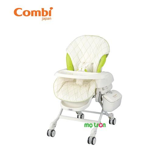 Ghế nôi đa năng Combi Rishena - màu xanh là dòng ghế nôi chất lượng cao cấp của thương hiệu Combi Nhật Bản. Với tính năng của một chiếc ghế ăn, nôi ngủ với tính năng rung nhẹ mang đến cho bé sự thoải mái mỗi khi ngồi vào ghế. Sản phẩm được rất nhiều các bậc phụ huynh yêu thích lựa chọn cho bé sử dụng.