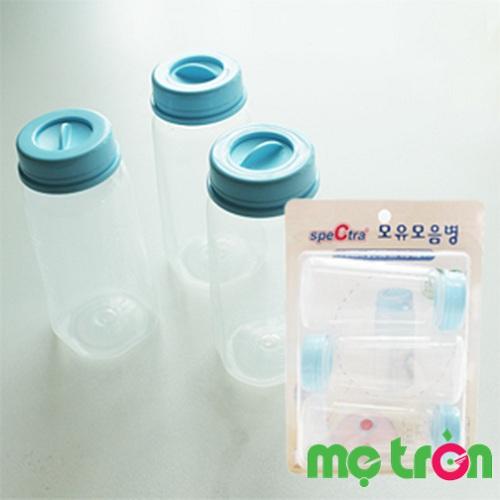 <p>Bộ 3 bình trữ sữa cổ nhỏ Spectra Hàn Quốc 150ml</p>
