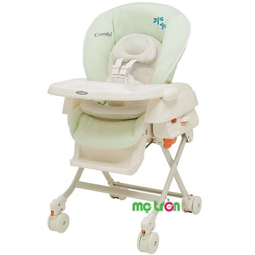 Ghế ăn Combi Rashule DX/Mint Green - màu xanh bạc hà là một chiếc ghế đa năng vô cùng tiện dụng gồm ghế ăn, ghế rung và nôi ngủ. Ngoài ra, mẹ còn có thể thay đồ, thay tẻ, cho bé nằm chơi trên ghế rất an toàn. Thiết kế lưng ghế độc đáo có thể ngả 5 mức khác nhau để bé nằm sao cho thoải mái nhất.