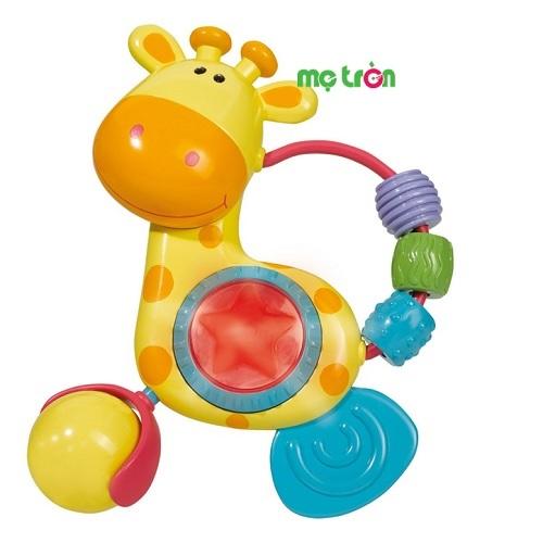 Xúc xắc hươu cao cổ Simba S4637 phát sáng và phát nhạc với thiết kế chú hươu cao cổ vô cùng dễ thương cùng một quả bóng lắc và những bộ phận khác nhau, các bộ phận này có thể di chuyển theo nhiều cách. Đồ chơi được làm từ chất liệu an toàn, không độc tố, bảo vệ an toàn sức khỏe cho trẻ nhỏ khi vui chơi hằng ngày.