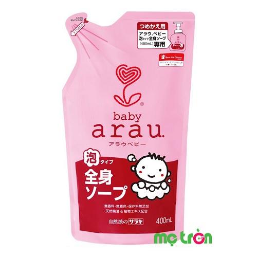 <p>Sữa tắm Arau Baby túi 400ML là sản phẩm được điều chế với thành phần chiết xuất 100% từ các loại thảo mộc thiên nhiên an toàn giúp bạn nhẹ nhàng làm sạch làn da bé và mang đến hương thơm dịu nhẹ. Sữa tắm không chứa phụ gia hay các hóa chất độc hại như chất tạo hương, chất làm sạch tổng hợp hay chất tạo màu, bảo quản, mang đến sự an toàn tuyệt đối cho sức khỏe của bé yêu khi tiếp xúc.</p>