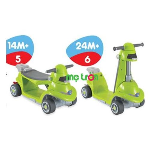 Xe chòi chân thông minh AIO Smart-Trike màu xanh lá là dòng xe cho em bé đa năng, có thể chuyển đổi từ một chiếc xe chòi chân nhanh chóng sang chiếc xe scooter năng động một cách linh hoạt theo độ tuổi phát triển của bé. Xe thiết kế dành cho trẻ từ 14 tháng tuổi trở lên, có phần lưng ghế dài, chắc chắn mang đến sự thoải mái tối ưu.