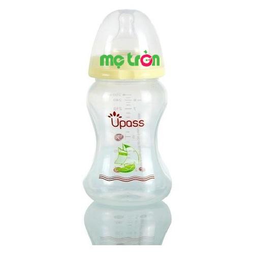Bình sữa cổ rộng PP không BPA Upass 260ml là sản phẩm chất lượng dùng cho trẻ từ 3 – 6 tháng tuổi. Sản phẩm được làm từ chất liệu nhựa PP hoàn toàn không chứa BPA gây hại cho sức khỏe của bé. Bình sữa và núm ty Upass đều đáp ứng các tiêu chuẩn FDA, EN – 14350, ISO 9001:2000 chất lượng và an toàn.