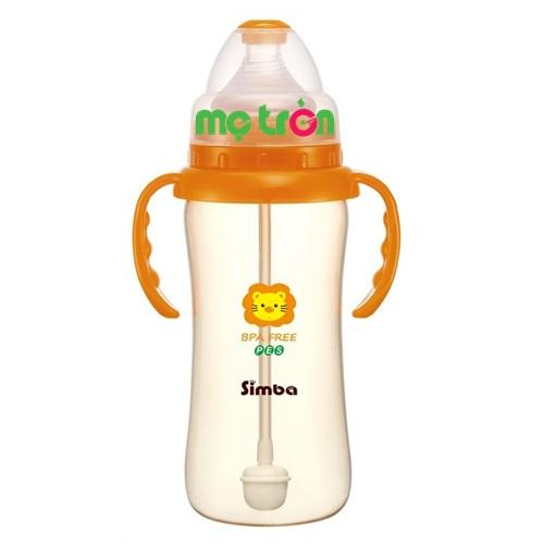 Bình sữa Simba 360ml nhựa PES S6883 hình hồ lô tiện lợi và an toàn là dòng sản phẩm chất lượng cao cấp của thương hiệu Simba. Sản phẩm được làm từ chất liệu nhựa PES cao cấp, hoàn toàn không chứa BPA gây hại cho sức khỏe của bé. Phần cổ bình được thiết kế rộng giúp mẹ pha sữa và cọ rửa vệ sinh bình dễ dàng.
