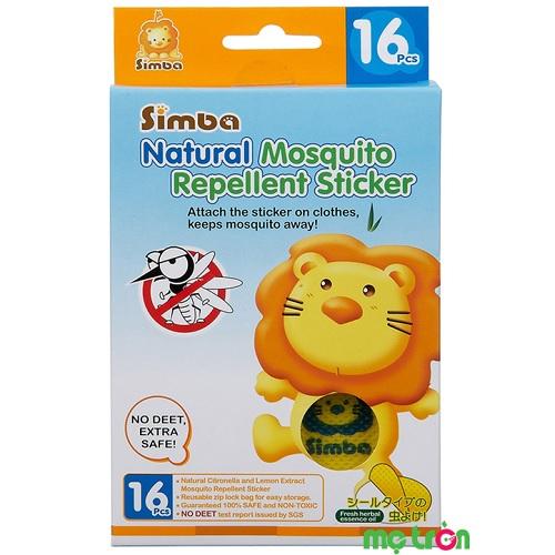 Miếng dán đuỗi muỗi Simba 16 miếng S9982 chiết xuất từ tinh dầu chanh cùng sả thiên nhiên mang đến khả năng đuổi muỗi một cách hiệu quả trong 72 giờ với khoảng cách 1m. Miếng dán được áp dụng công nghệ lưu lại hương nano, không gây kích ứng khứu giác cho trẻ nên an toàn tuyệt đối khi cho bé sử dụng.