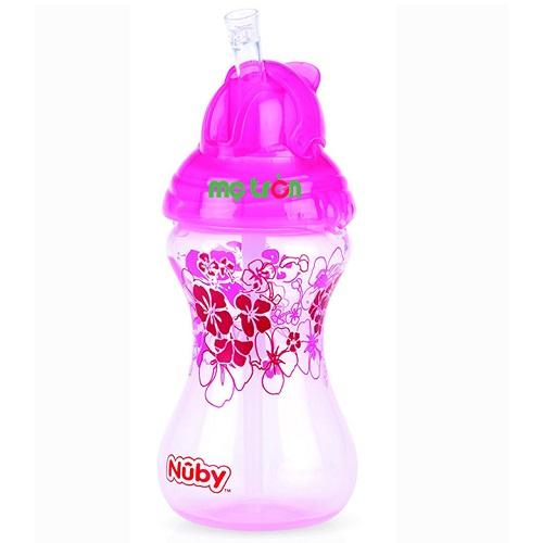 Bình uống nước Nuby dòng Clik-it 300ml – Màu xanh, tím, hồng