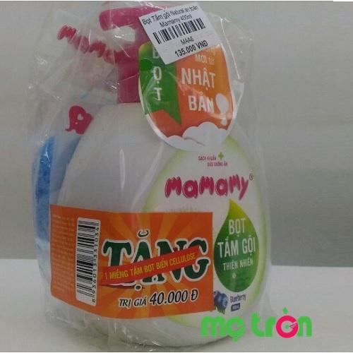 Bọt tắm gội thiên nhiên cho bé hương hoa Mamamy 400ml