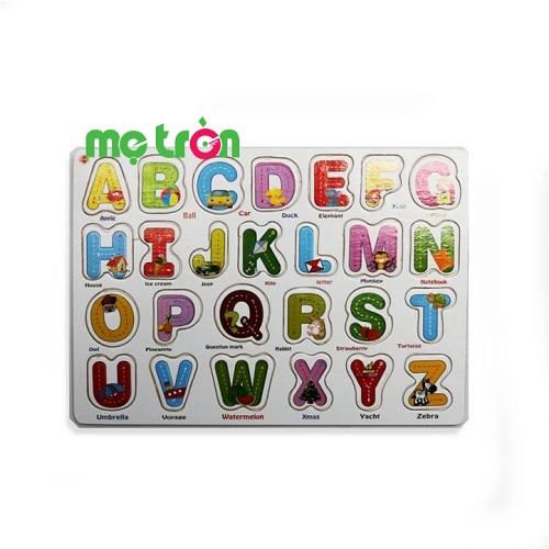 <p>- Sản phẩm được làm từ chất liệu gỗ tự nhiên cao cấp</p> <p>- Bảng chữ cái tiếng anh gồm 26 chữ cái giúp bé học dễ dàng hơn</p> <p>- Thiết kế với nhiều màu sắc bắt mắt kích thích thị giác của bé</p>