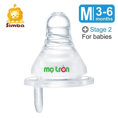 - Bộ 2 ty thay chống đầy hơi bình sữa cổ chuẩn chảy chữ thập Simba (S, M, L, XL)  làm từ silicone cao cấp an toàn. - Thiết kế dòng chảy tròn giúp bé bú không bị sặc và mau no. - Núm ty có lỗ thông khí chống đầy hơi.