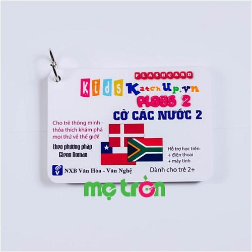 <p>- Bộ Flashcard cho bé Tiếng Anh KatchUp - Cờ các nước 2 được làm từ chất liệu giấy glossy cao cấp, 4 góc bo tròn an toàn.</p> <p>- Giúp bé học hỏi ngay từ khi còn sớm với 30 thẻ thông minh.</p> <p>- Chữ in rõ ràng, hình ảnh đẹp mắt cho bé tiếp thu nhanh hơn.</p>