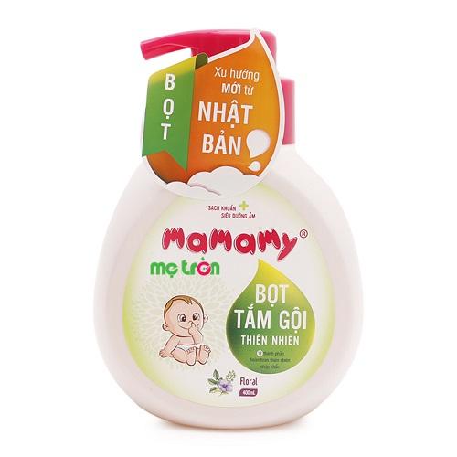 <p>- Bọt tắm gội thiên nhiên cho bé hương hoa Mamamy 400ml chiết xuất từ các thành phần tự nhiên</p> <p>- Có tác dụng làm sạch rất hiệu quả</p> <p>- Không gây kích ứng da bé.</p>