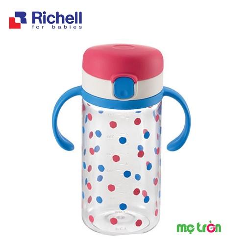 - Cốc tập uống an toàn cho bé Richell 320ml RC21340 làm từ chất liệu nhựa cao cấp an toàn. - Có tay cầm tiện lợi, có thể tháo rời khi không sử dụng. - Có nắp đậy & gioăng chống đổ 100%.
