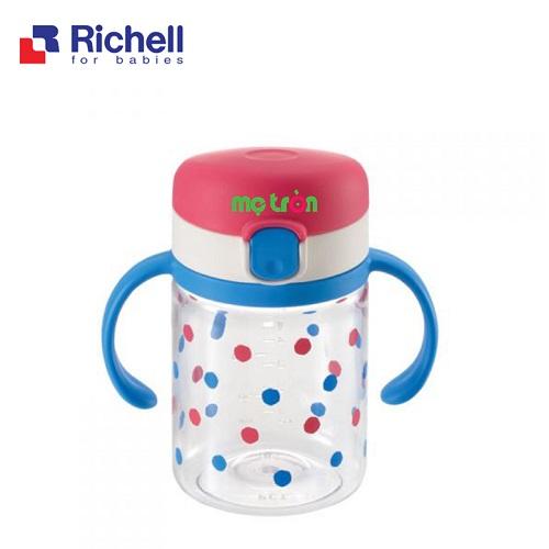 - Cốc tập uống cho bé 200ml Richell RC21330 làm từ chất liệu nhựa cao cấp an toàn. - Có tay cầm tiện lợi, có thể tháo rời khi không sử dụng. - Có nắp đậy & gioăng chống đổ 100%.