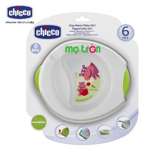 <p>- Đĩa giữ nhiệt Chicco 6M+ 113905 làm từ chất liệu nhựa cao cấp.</p> <p>- Thiết kế chia ngăn phân loại thức ăn cho bé.</p> <p>- Đĩa được thiết kế 2 lớp tiện lợi.</p>
