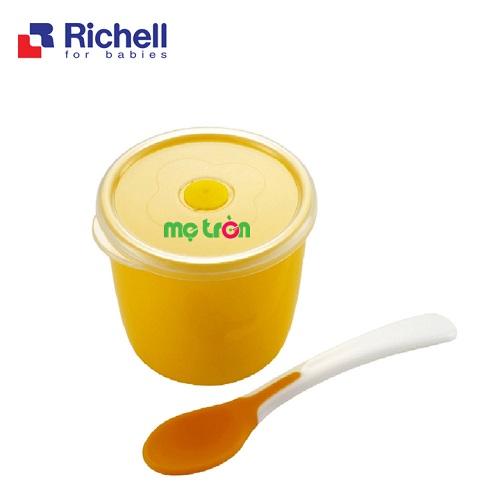- Hộp đựng đồ ăn nhỏ có tay cầm Richell RC21191 được làm từ chất liệu nhựa PP cao cấp. - Thìa đi kèm tiện lợi. - Nắp đậy vừa vặn tiện lợi.