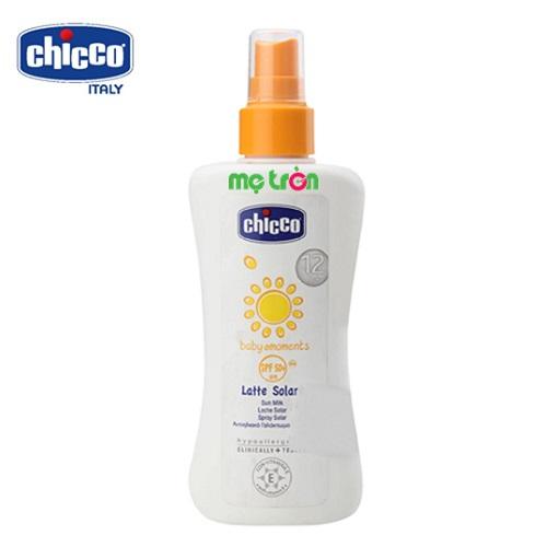 Kem chống nắng dưỡng da SPF 50+ Chicco 12M+ dạng xịt 150 ml cho bé