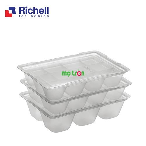 - Khay trữ đông thức ăn 2 chiếc Richell làm từ chất liệu nhựa cao cấp. - Sản phẩm gồm 2 khay tiện lợi. - Có nắp đậy vệ sinh.
