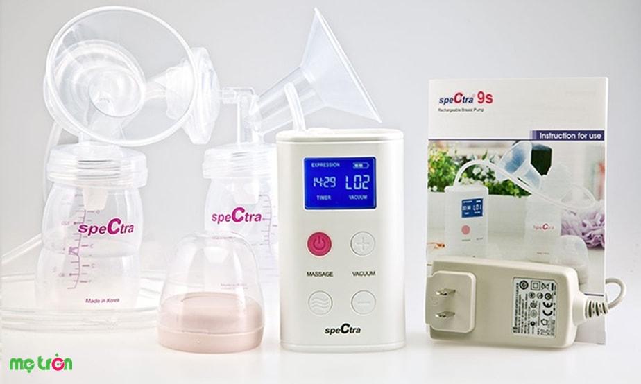 <p>Máy hút sữa điện đôi Spectra 9S Hàn Quốc được sản xuất từ chất liệu nhựa BPA Free đảm bảo an toàn tuyệt đối cho sức khỏe của mẹ và bé. Máy có thiết kế đơn giản, nhỏ gọn và cực kỳ thanh lịch.</p>