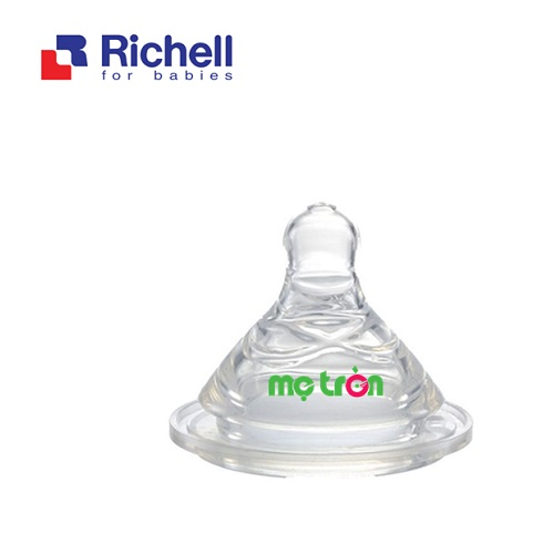 - Núm ti cổ rộng cắt M (3m+) Richell RC98162 làm từ chất liệu silicone cao cấp an toàn. - Thiết kế các vòng gân dạng xoắn giúp bé  -  Sản phẩm có độ đàn hồi và co giãn tốt.