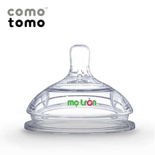 - Núm ti comotomo 6+M (2c) - CT00009 làm từ chất liệu silicone cao cấp, an toàn. - Thiết kế van thông khí kép chống đầy hơi. - Phần cổ rộng mô phỏng bầu ngực mẹ.