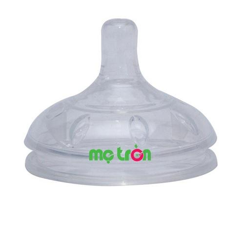 - Núm ty bình sữa Gluck MMD được làm từ chất liệu 100% silicone dùng cho thực phẩm nên rất an toàn. - Thiết kế tiên tiến, tiện dụng, không chứa chất tạo đàn hồi. - Có van chống đầy hơi và chống sặc cho bé.