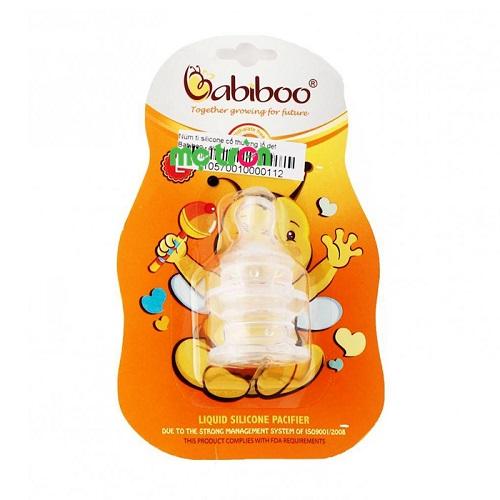- Núm ty silicone Babiboo BA815 12M+ làm từ chất liệu nhựa cao cấp. - Thiết kế đầu ty lỗ dẹt mô phỏng hình dáng ty mẹ độc đáo. - An toàn cho răng nướu của trẻ.