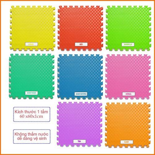 """<div style=""""margin: 0px; padding: 0px; box-sizing: border-box; color: #383838; font-family: Roboto, sans-serif; font-size: 14px;""""><span style=""""margin: 0px; padding: 0px; box-sizing: border-box; font-size: 12pt; color: #000000;"""">Thảm xốp lót sàn 60x60 dày 1cm -Thương hiệu Việt Nam - 8 màu lựa chọn <strong style=""""margin: 0px; padding: 0px; box-sizing: border-box;"""">!!!<em style=""""margin: 0px; padding: 0px; box-sizing: border-box;"""">Giá 50.000 vnđ nay chỉ còn <span style=""""color: #ff0000;"""">3</span><span style=""""margin: 0px; padding: 0px; box-sizing: border-box; color: #ff0000;"""">0.000 vnđ</span>chỉ có tại<span style=""""margin: 0px; padding: 0px; box-sizing: border-box; color: #008000;"""">metron.vn</span></em>!!!!</strong></span></div> <div style=""""margin: 0px; padding: 0px; box-sizing: border-box; color: #383838; font-family: Roboto, sans-serif; font-size: 14px;""""><span style=""""margin: 0px; padding: 0px; box-sizing: border-box; font-size: 12pt;""""><em style=""""margin: 0px; padding: 0px; box-sizing: border-box;""""><span style=""""margin: 0px; padding: 0px; box-sizing: border-box; color: #000000;""""><strong style=""""margin: 0px; padding: 0px; box-sizing: border-box;""""><span style=""""font-family: Roboto, sans-serif; font-size: 16px;"""">Thảm xốp lót sàn :</span>Sản phẩm mang thương hiệu Việt- Chất liệu xốp cao cấp êm ái- Nhiều màu sắc sinh động- Bảo vệ bé yêu khỏi những va chạm.</strong></span></em></span></div>"""
