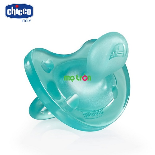 Ty ngậm Silicon Physio Soft Xanh ngọc 6-12M Chicco 114863