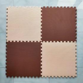 Thảm xốp màu nâu , kem (1 tấm) - Kích thước 60x60x1,2cm- Màu sắc sang trọng- Giá tốt nhất thị trường